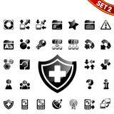 2 ikony ustawiają sieć Zdjęcia Stock