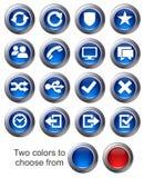 2 ikony ustawiają stronę internetową Obraz Royalty Free