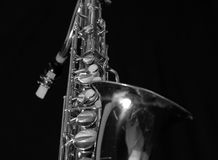 2 ingen saxofon Arkivfoto