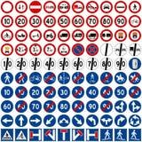 2 inkasowy znaków ruch drogowy Fotografia Stock