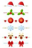 2 inställda julavdelare stock illustrationer