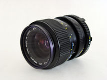 2 isolated macro lenses Stock Photo