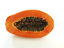 2 isolerad papaya Royaltyfri Bild