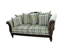 2 isolerad sofa Royaltyfria Bilder
