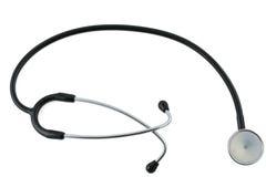 2 isolerad stetoskopwhite Royaltyfri Bild