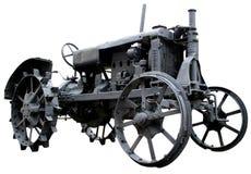 2 isolerade föråldrad traktortappning Arkivfoton