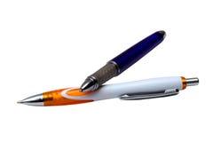 2 isolerade pennor Royaltyfri Fotografi