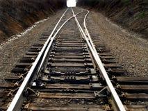 2 järnvägspår Arkivbilder