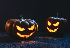 2 Jack O Lantern Illustration Royalty Free Stock Image