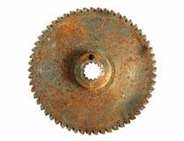 2 jagged det rostiga hjulet Arkivfoto