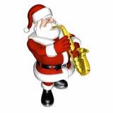 2 jazz släta santa Arkivbild