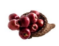 2 jedzenie jabłek 4 koszyka Fotografia Royalty Free