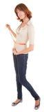 2.A jong meisje met de meter in de hand Stock Foto