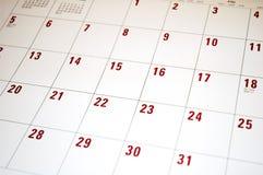 2 kalendarz Fotografia Stock