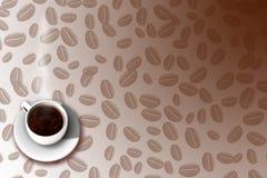 2 kawa menu Zdjęcia Royalty Free