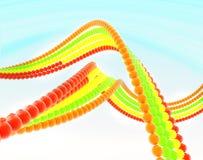 2 Ketten der Farbenkugeln Lizenzfreies Stockfoto