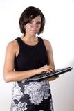2 keyboard wireless woman Στοκ εικόνες με δικαίωμα ελεύθερης χρήσης