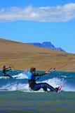 2 kiters entrant Photos libres de droits