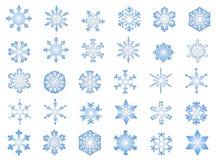2 klasycznego płatka śniegu Obraz Royalty Free