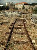 2 klippt av järnväg Royaltyfri Foto