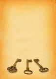 2 kluczy papieru Zdjęcie Stock