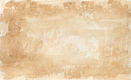2 kolorowe sepiowej akwareli tło Obraz Stock
