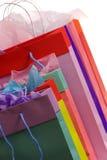 2 kolorowe toreb na zakupy Obrazy Stock