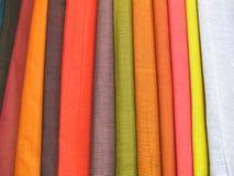 2 kolorowej tkaniny Zdjęcia Stock