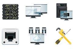 2 komputerów ikony część set Obraz Stock