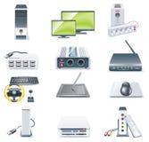 2 komputeru wyszczególniająca ikony część rozdzielać setu wektor Zdjęcia Royalty Free