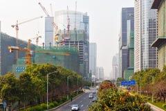 2 konstruerande guangzhou Arkivfoto