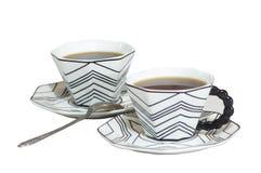 2 koppen sterke koffie Royalty-vrije Stock Afbeelding