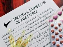 2 korzyści żądania forma medyczna Obrazy Royalty Free