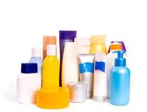 2 kosmetiska flaskor Arkivfoto