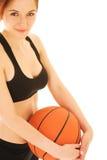 2 koszykówek dziewczyna Obrazy Stock