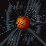 2 koszykówki łamający szkło Fotografia Royalty Free