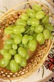 2 koszykowy świeży winogrono Obrazy Royalty Free