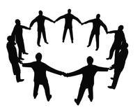 2 kręgu biznesu ludzi ilustracji