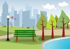 2 krajobrazowego miastowy Obrazy Royalty Free