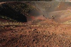 2 krater etna Arkivfoto