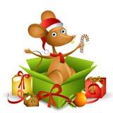 2 kreskówek mysz Santa