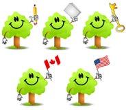 2 kreskówki gospodarstwa przedmiotu tree ilustracja wektor