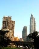 2 Kuala Lumpur linia horyzontu Zdjęcie Royalty Free