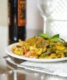 2 kurczaka curry basila thai Zdjęcia Stock