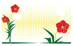 2 kwiat projektów ilustracja wektor