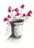 2 kwiatu garnek Fotografia Royalty Free