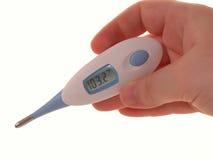 2 läkarundersökning för 103 feber Arkivbild