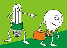 2 lampade Immagine Stock