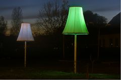 2 lampes Photo stock