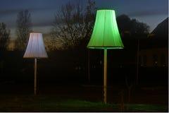 2 lampor Arkivfoto